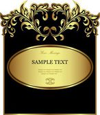 Luxury golden vintage styled card — Stok Vektör