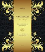 Luxury golden vintage styled card — Stock Vector