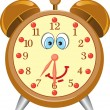 Funny cartoon alarm clock — Stock Vector