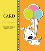 Nice card with funny cartoon dog — Vector de stock
