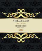 Damask vintage card — Stock Vector