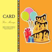A birthday greeting card — ストックベクタ