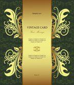 Luxury gold-framed label — Stock Vector