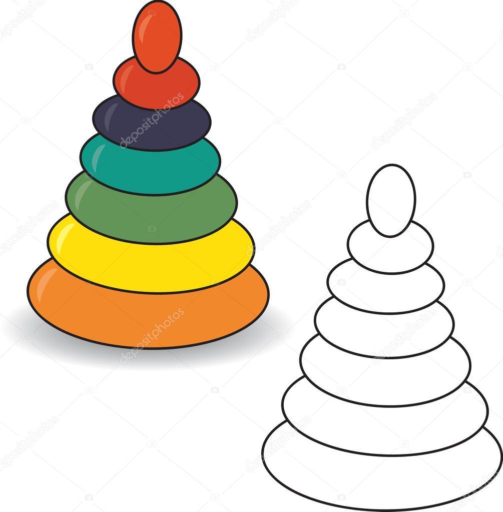 пирамидка детская раскраски