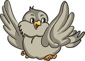 Oiseau cartoon — Vecteur