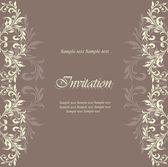 Carte d'invitation floral — Vecteur