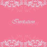 Carte d'invitation ou d'une annonce — Vecteur