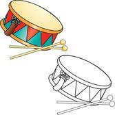 Drum a paličky — Stock vektor