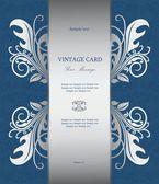 Zilveren vintage kaart — Stockvector