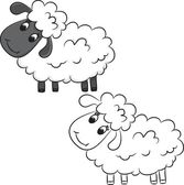 Cartoon sheep — Vector de stock