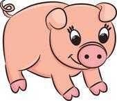Cartoon pig — Stock Vector