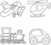 Transporte de dibujos animados — Vector de stock