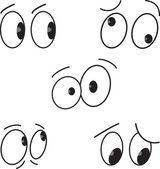 Cartoon eyes set — Stock Vector