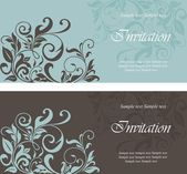 Set of invitation vintage cards — Stock Vector
