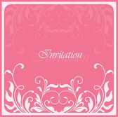 Invitation vintage card — Stock Vector