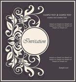 Vintage uitnodigingskaart — Stockvector