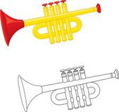 Trumpet toy — Stock Vector