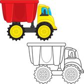 Dump truck toy — Stock Vector
