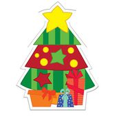 Christmas tree sticker — Stock Vector