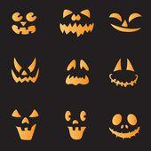 Etiquetas engomadas de la calabaza de halloween — Vector de stock