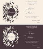 Conjunto de cartões de convite floral — Vetor de Stock