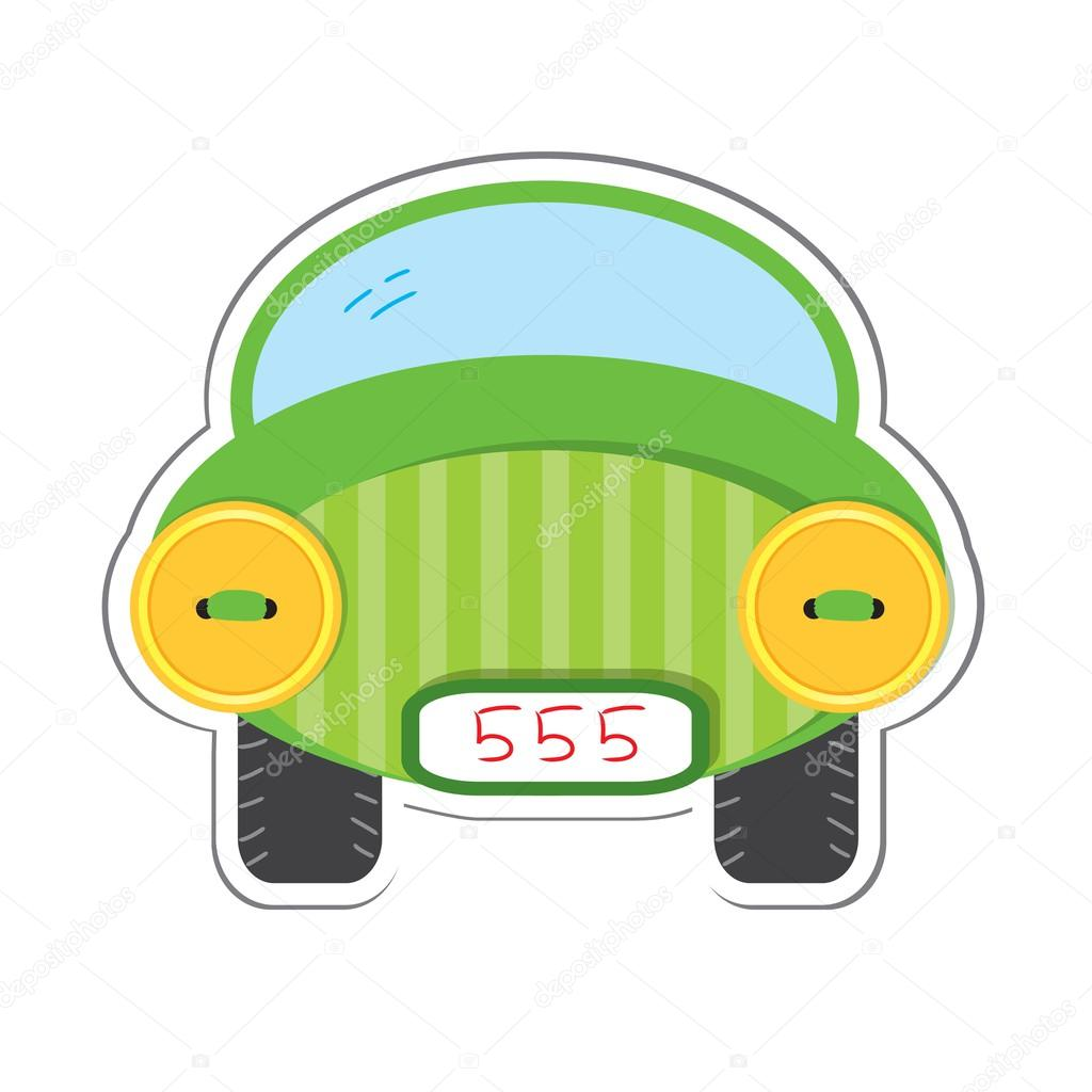 Car sticker design download - Car Sticker For Scrapbook Design Stock Illustration