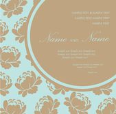 Beautiful wedding invitation card — Stock Vector