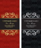 Luxury vintage cards — Stock Vector