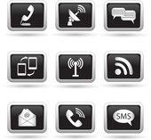 Communication icons. Vector illustration. — Stockvector