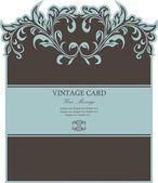 Hermosa tarjeta floral — Vector de stock