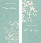 Beautiful floral invitation cards — Stock Vector