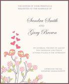 Wedding invitation card. Vector — Stock Vector