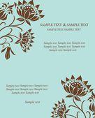 Floral uitnodigingskaart. vectorillustratie — Stockvector