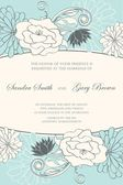 Floral wedding invitation or announcement card — Stock Vector