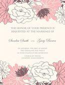 Floral wedding invitation — Stock Vector