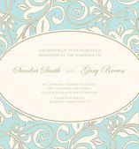 Beautiful floral wedding invitation — Vecteur