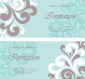 Wedding invitation cards set — Stock Vector
