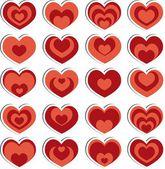 Vector hearts — Stockvektor