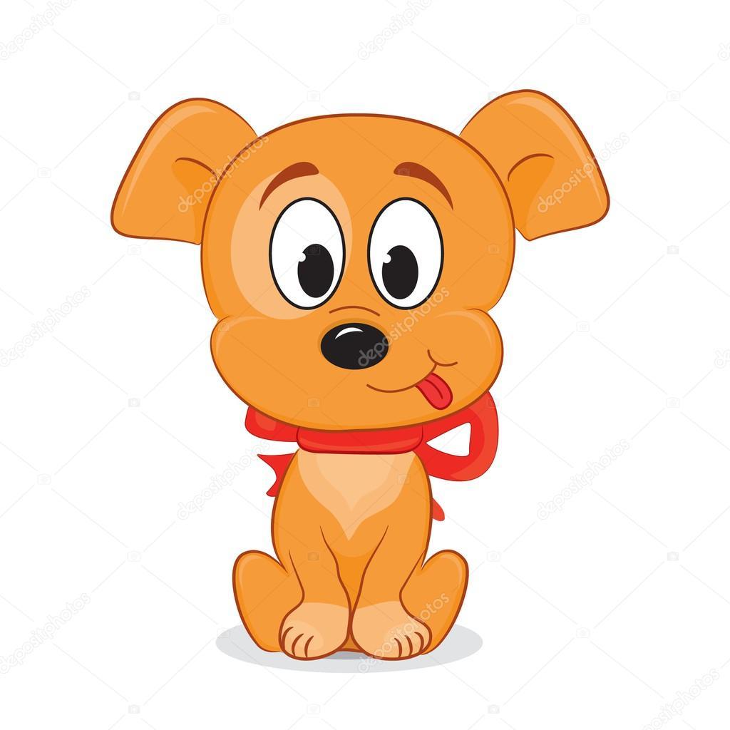 Un cane simpatico cartone animato — vettoriali stock