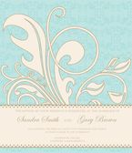Vintage wedding invitation — Vector de stock