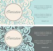 Beautiful vintage invitations — Vecteur
