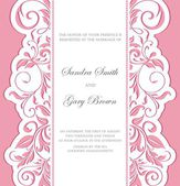 Invitation wedding vintage card with floral elements — Vector de stock
