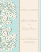 Invitation wedding vintage card with floral elements — Stock vektor
