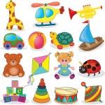 Baby's toys set — Stock Vector