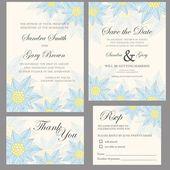 Wedding invitation set — Stockvektor