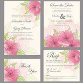 Wedding invitation set — Stock Vector