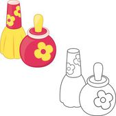 Toy perfume bottles. Coloring book — Wektor stockowy