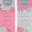 Beautiful floral wedding invitations — Stock Vector #44953573