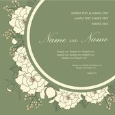 Wedding invitation card with floral elements — Vettoriale Stock