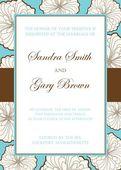 προσκλητήριο γάμου με floral στοιχεία — Διανυσματικό Αρχείο